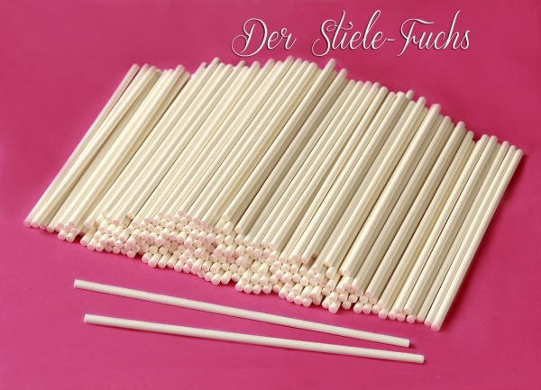 50 Cake Pop Sticks 15 cm Papier